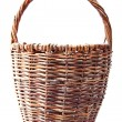 Wicker basket. Isolated on a white — Stock Photo