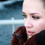 Crying beautiful woman — Stock Photo