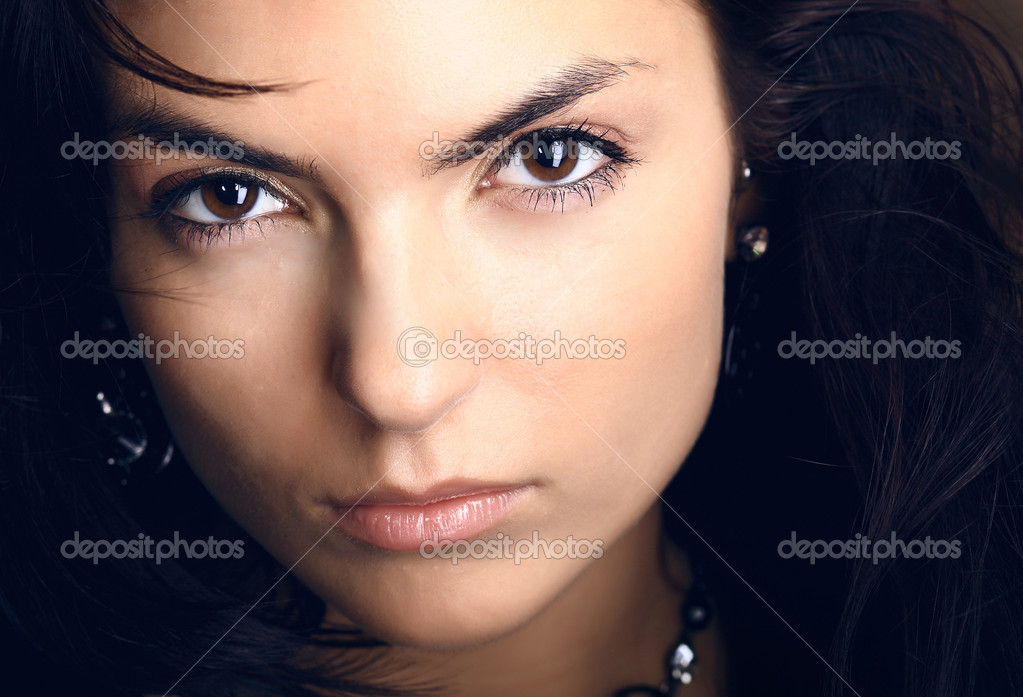 Young beautiful brunette Caucasian girl. Photo. — Stock Photo #1282624