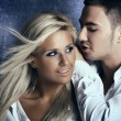 Young love couple smiling - 