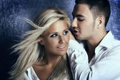 Young love couple smiling — Stock Photo