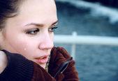 Belle femme de pleurer — Photo