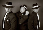 Three gangsters. — Stock Photo
