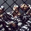 Three prisoners. — Stock Photo