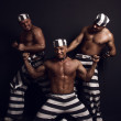 Stock Photo: Three prisoners.
