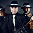 Stock Photo: Three gangsters.