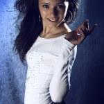 Young beautiful brunette Caucasian girl — Stock Photo #1665147