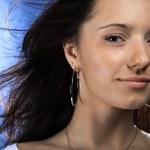 Young beautiful brunette Caucasian girl — Stock Photo #1665173