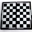 Chess board on white background. - Stock fotografie