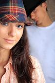 Beautiful teen age girl and boy. — Stock Photo