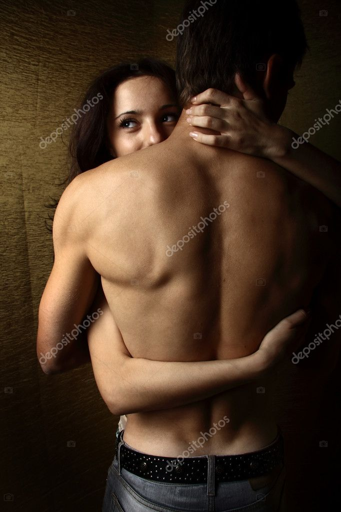 Two lovers over dark background. Photo. — Stock Photo #1665937