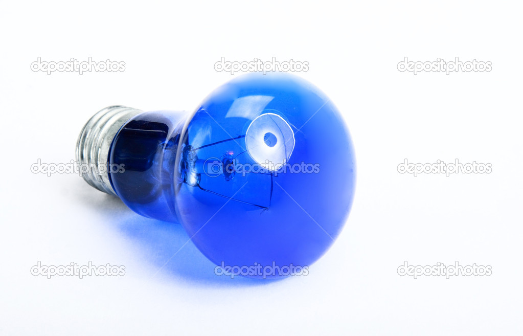 Light bulb on white background. Photo.  Stock Photo #1668910