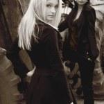 Two stylish young girls — Stock Photo