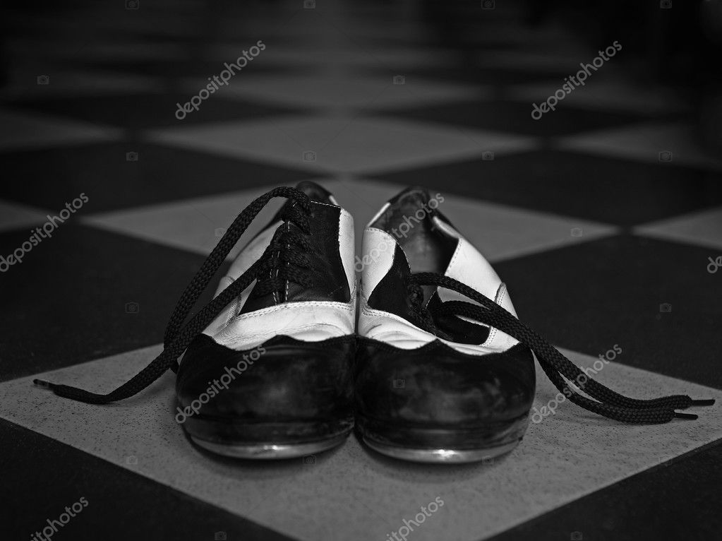 Tap dance shoes on tile — Stock Photo #2564073