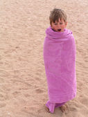 Little boy with a towel — Foto Stock