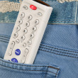 Royalty-Free Stock Photo: Control panel sticks out of  pocket