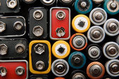 Some batteries and accumulator — Stock Photo
