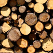 Pile of lumber — Stock Photo