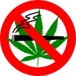 Royalty-Free Stock Photo: No Cannabis Smoking