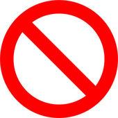 Forbidden Sign — Stock Photo