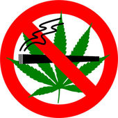 No Cannabis Smoking — Stock Photo