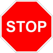 Stoppskylt — Stockfoto