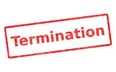 Termination Stamp — Stock Photo
