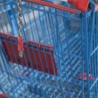 Stock Photo: Stacked Shopping Carts