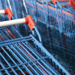 Stacked Shopping Carts — Stock Photo