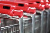 Stacked Shopping Carts — Stock Photo