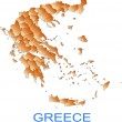 Stock Vector: Map of Greece