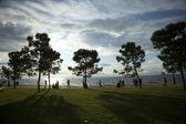 The beach of Thessaloniki — Стоковое фото