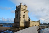 Belem tower in lissabon, portugal — Stockfoto