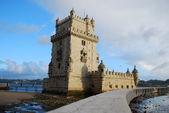 Torre de belém, em lisboa, portugal — Foto Stock