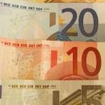 50, 20, 10 and 5 Euro Bills — Stock Photo
