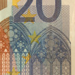 Stock Photo: 20 Euro bill (close up)