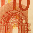 Stock Photo: 10 Euro bill (close up)