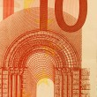 10 Euro bill (close up) — Foto de stock #1260229