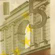 Stock Photo: 5 Euro bill (close up)