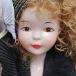 Retro porcelain doll — Stock Photo