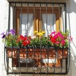 Typical window balcony with flowers in L — Foto Stock