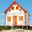 Yellow and red fisherman house — Stock Photo #1260951