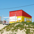 Yellow and red fisherman house — Stock Photo #1260989