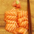 Sashimi meal with salmon — Stock Photo #1261008