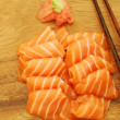 Sashimi meal with salmon - 