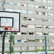 Basketball court in a social neighbourho — Stock Photo