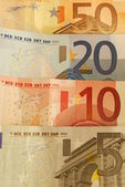 50, 20, 10 and 5 Euro Bills — Stock Photo