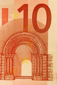 10 Euro bill (close up) — Stock Photo
