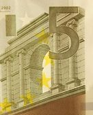 5 Euro bill (close up) — Stock Photo