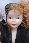 Retro porcelain doll — Stock Photo